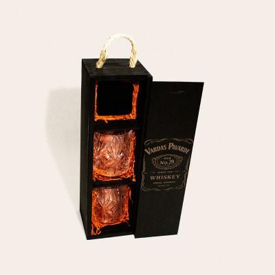 """""""Whiskey Set Box - Vardas Pavardė"""" rinkinys I"""